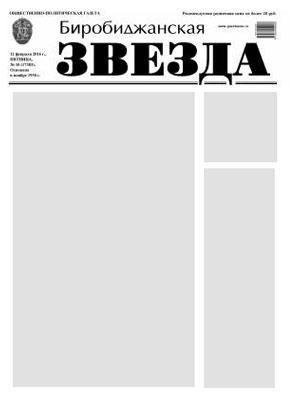 Биробиджанская Звезда - 65(17345)11.09.2015