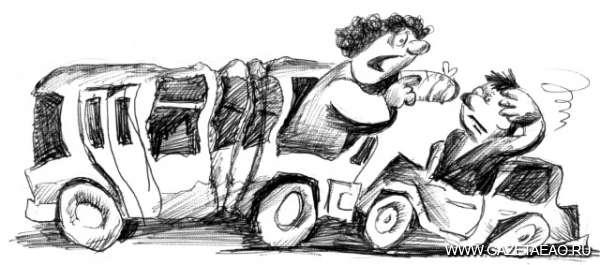 Упала в автобусе — очнулась на улице… - Рисунок Владислава Цапа