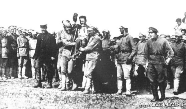 Биро-Биджанский проект - М.И.Калинин в Михайло - Семёновском 1923 г.