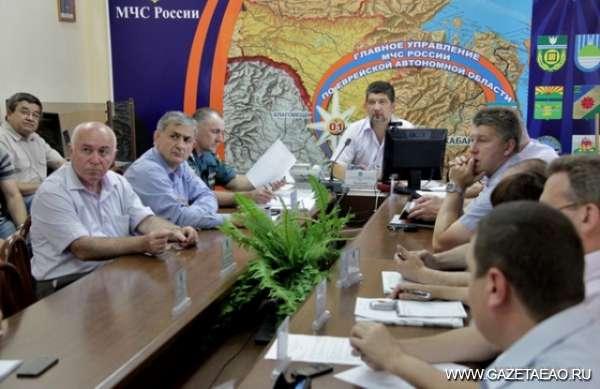Председатель областной КЧС поставил задачи в связи с паводком на Сунгари