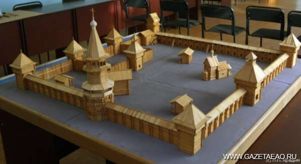 """""""Кузнец"""" - макет крупнейшего на Амуре в XVII веке укрепленного поселения"""