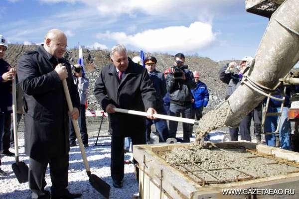 В ЕАО залит первый куб бетона в основание горно-обогатительной фабрики