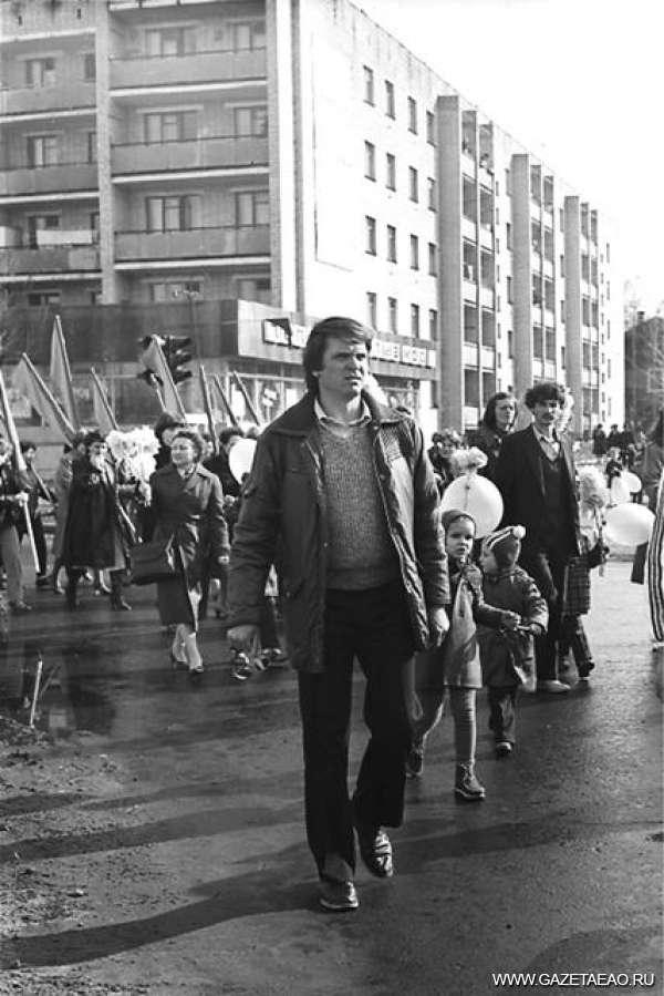 Старый новый Первомай - Демонстрация в Биробиджане. 1985 год