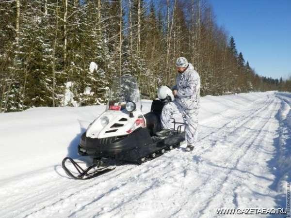 На снегоходе — за косулей