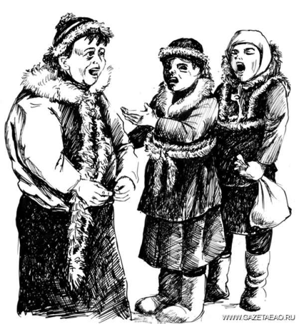 Раз в морозный вечерок девушки гадали