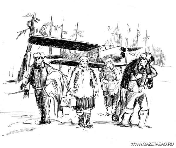 Вынужденная посадка - Рисунок Владислава Цапа