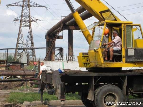 ТЭЦ готовят к зиме - Ремонтные работы в районе  Биробиджанской ТЭЦ.