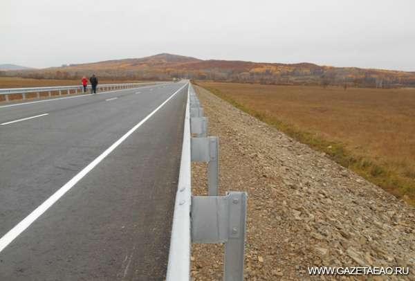 Два километра новой трассы - Новый участок трассы.