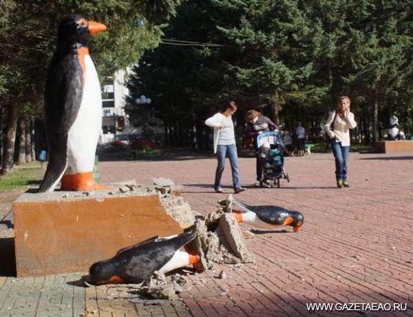 «Убили» пингвинов