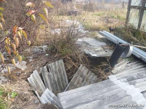 Приамурский потоп - То, что осталось от колонки