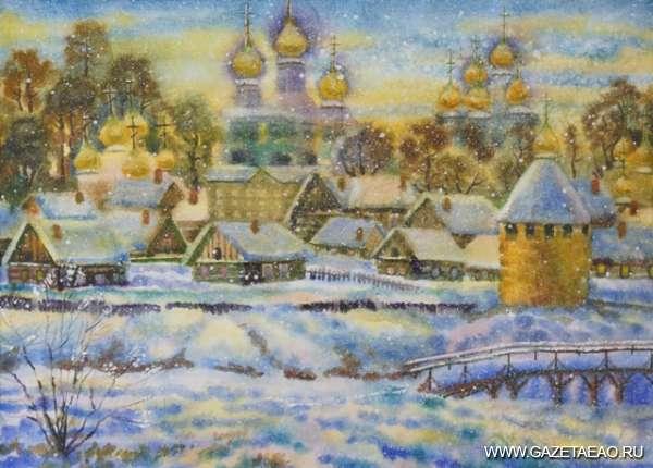 Резцом, пером и кистью - Картина В. Коровина