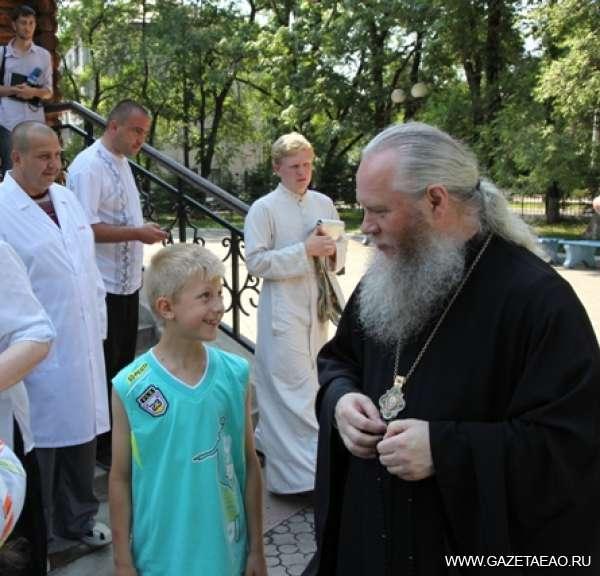 Отдохнем, помолясь - епископ Биробиджанский и Кульдурский Иосиф открыл первую смену детского лагеря