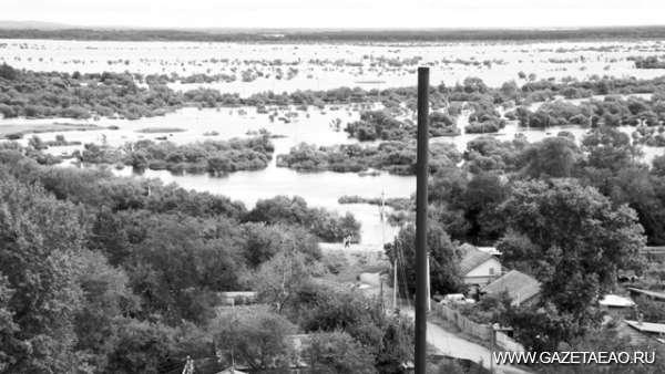 Когда просыпается «черный дракон» - затопленные поля в районе села Ленинское.