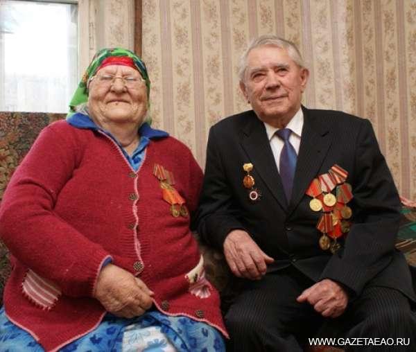 Запомни земляков в лицо - Ветераны-найфельдцы:  В.П. Верещагин с супругой Антониной Павловной.