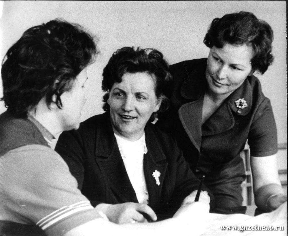 Фабричная история - В 1976 году директор фабрики Тамара Юдицкая (в центре) была избрана делегатом XXV съезда партии