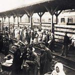 Перрон киевского вокзала летом 1919 года