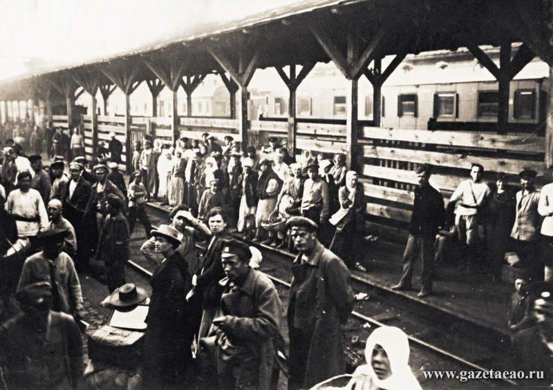 Биро-Биджан - Перрон киевского вокзала летом 1919 года