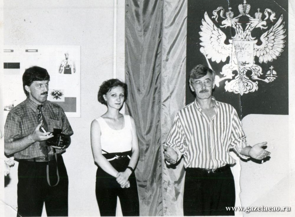 Как рождались символы - Александр Валяев, Юлия Бардыш и Борис Косвинцев на выставке геральдики