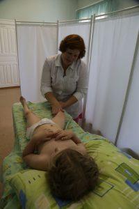 На сеансе массажа