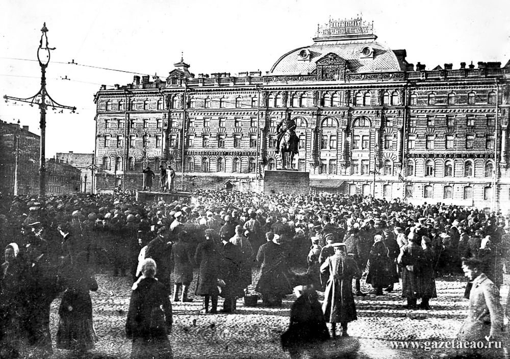 Трагедия Российской империи - Митинг на Знаменской площади Петрограда. Февраль 1917 г.