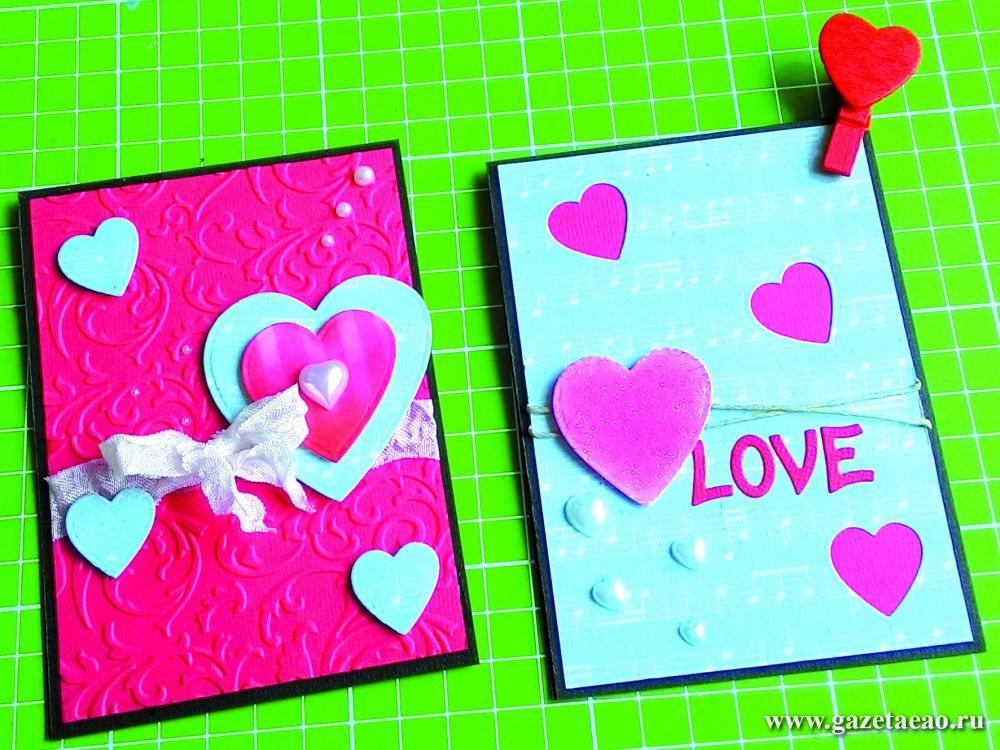 Открытка ко Дню святого Валентина своими рукамиот Ольги Алтуховой