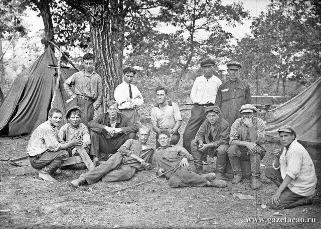 Экспедиция Б. Брука - Группа изыскателей в Биро-Биджанском районе, 1927 год