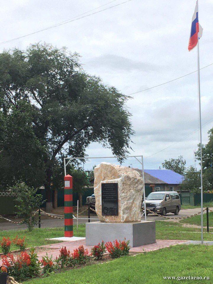 Проблемы местного значения - Обелиск воинам-пограничникам, установленный  на улице Кагыкина в прошлом году