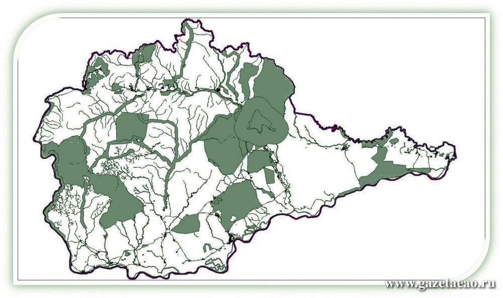 «Охотничий» гектар перестал быть «недотрогой» - Белым цветом отмечены территории, которые с 1 октября 2017 г.  будут доступны для «дальневосточного гектара»