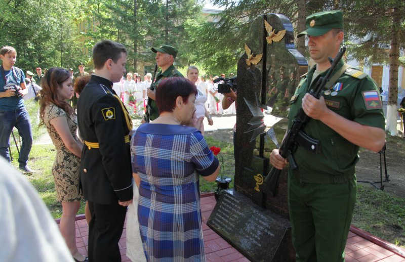 В областном центре открыли мемориал, посвященный погибшим в Сирии военным медсестрам
