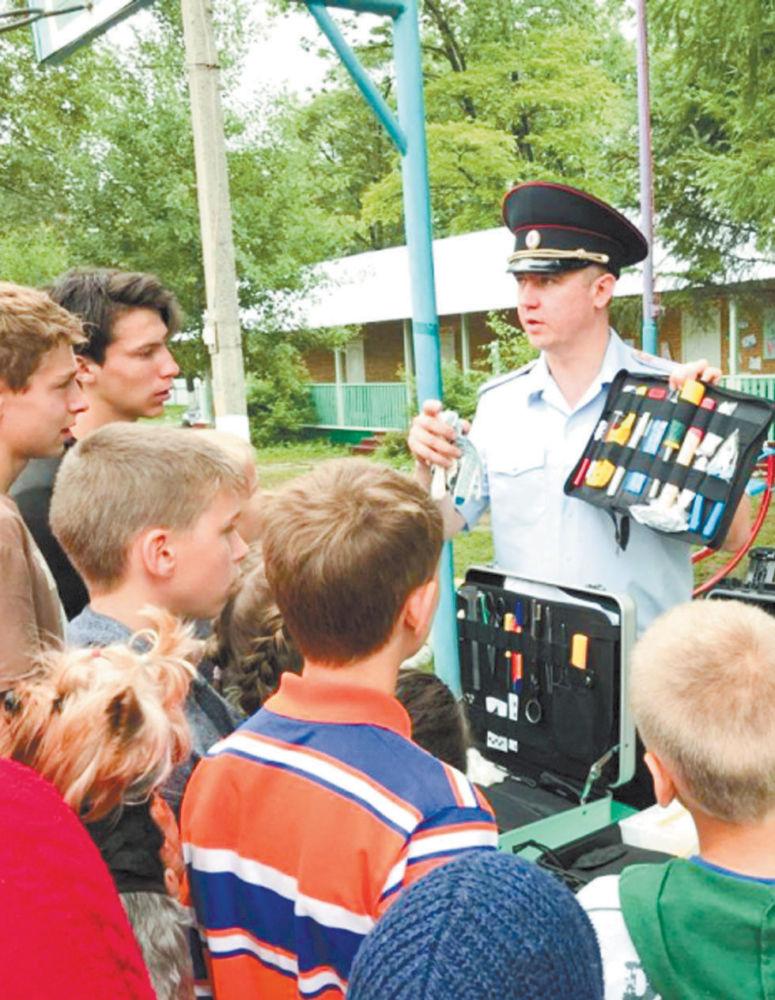 Выездная экскурсия экспертно-криминалистического центра прошла для ребят из летнего лагеря «Юннаты»