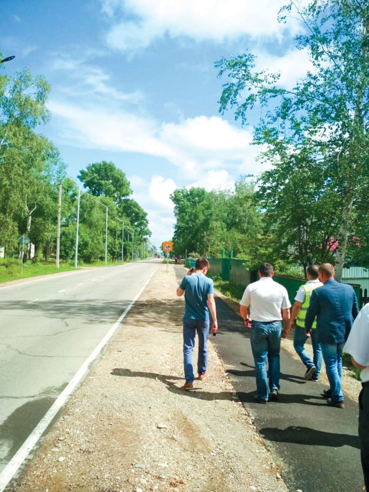 Всё за свои - Новые фонари и тротуары на участке региональной дороги в с. Валдгейм