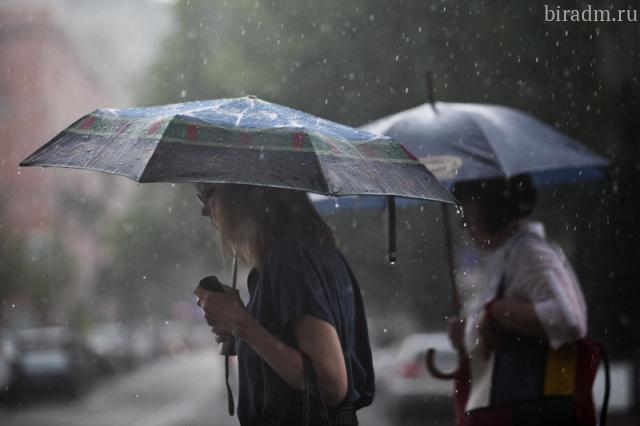 В областном центре прогнозируются сильные дожди