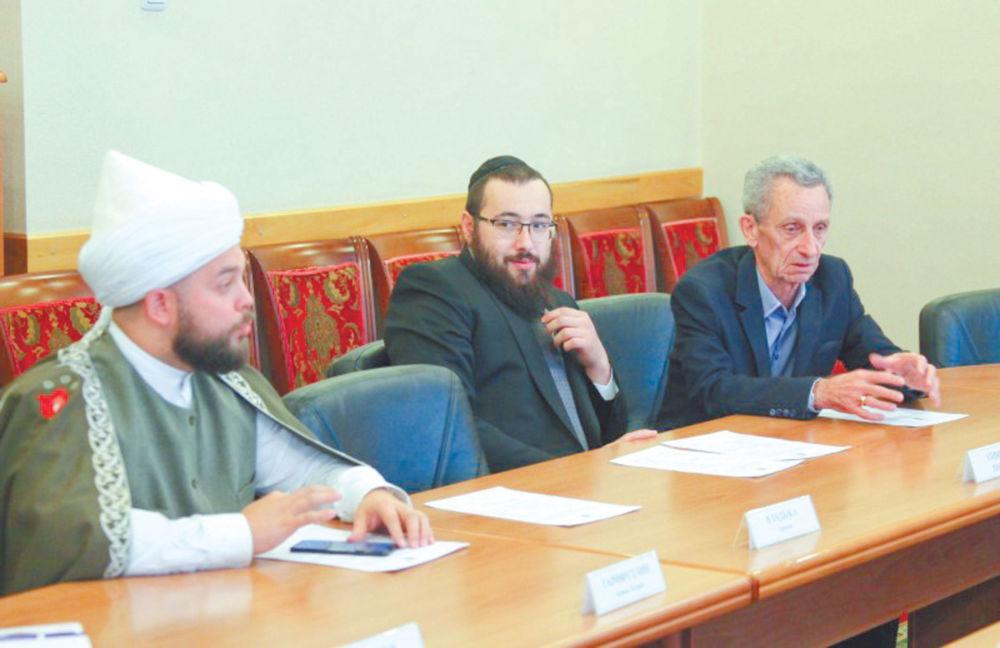Диалог о самом ценном - Ахмад Гарифуллин, раввин Элиягу Рисс, председатель еврейской религиозной общины «Фрейд» Рахмиль Ледер.