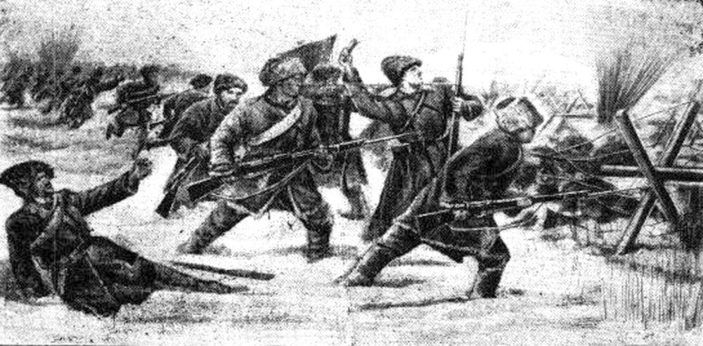 Солидно двигалась пехота