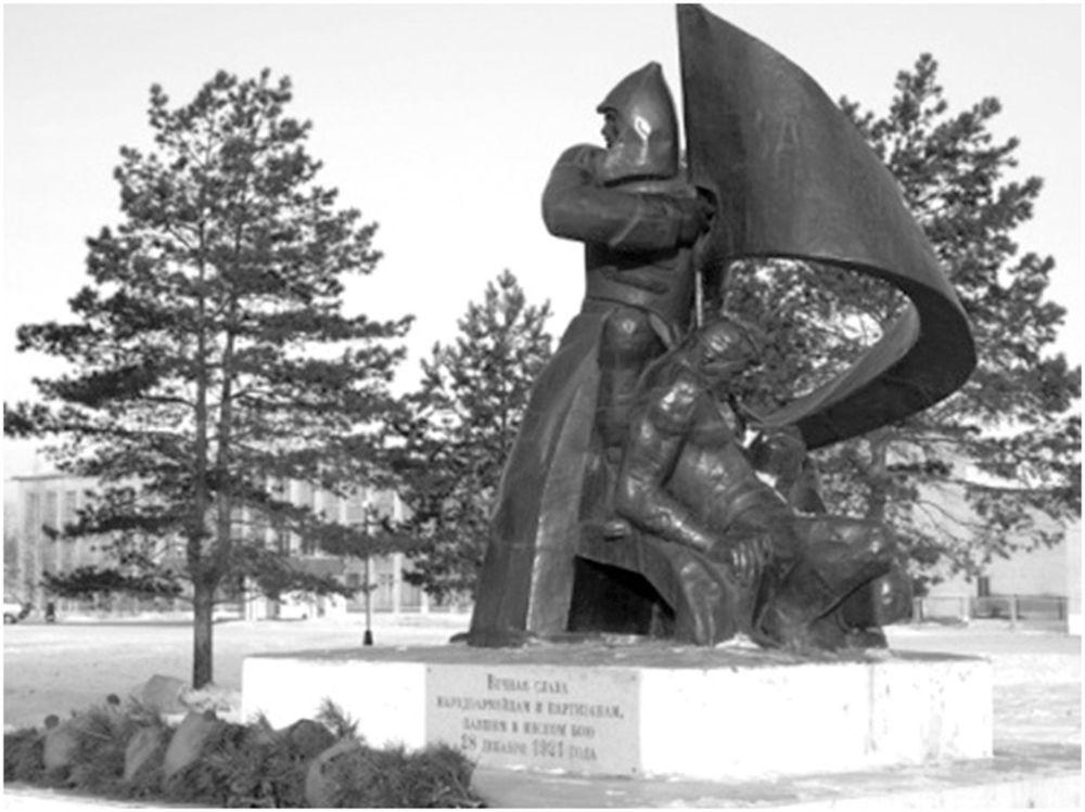 Удар был ошеломляющим - Братская могила погибших в Инском бою. Памятник установлен в 1986 г.