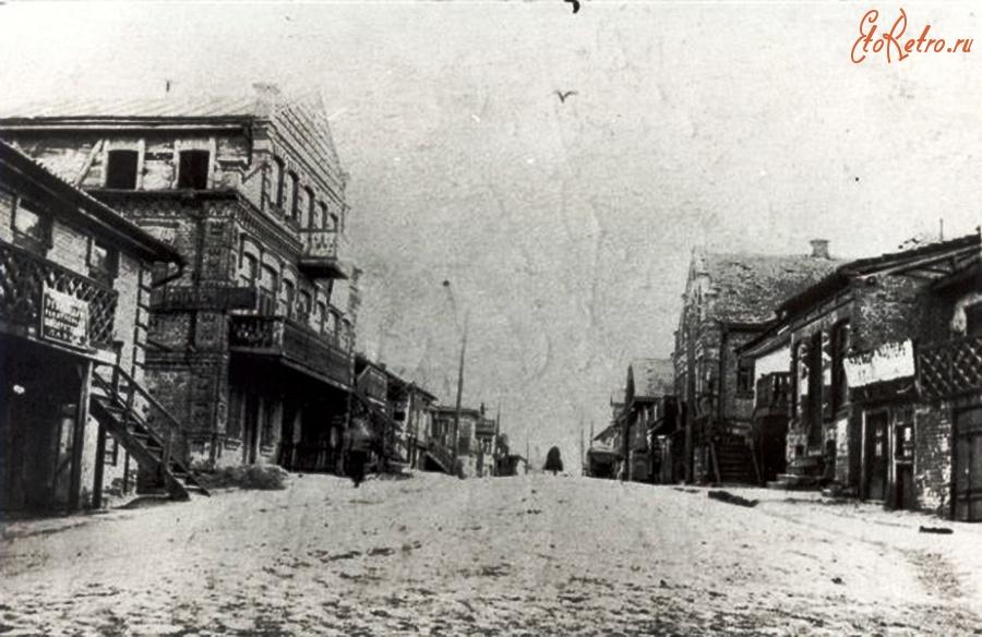 Мальчик Лэйбл  изгой Второй Мировой - Бершадь. Главная улица. 1906-1917 г.