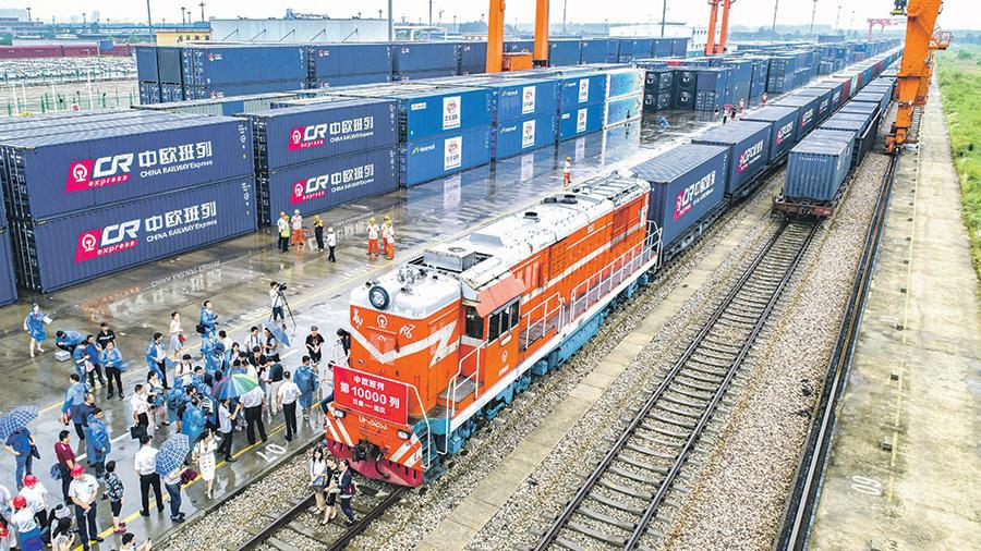 Симфония Си - Количество поездовКитай-Европа достигло 10 000 ChinaVisual