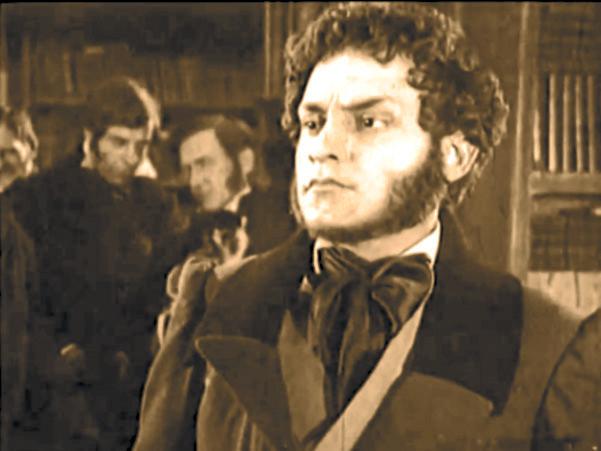 Актёр  с Пушкинской судьбой - Кадры из фильма  «ПОЭТ И ЦАРЬ», 1927 г.