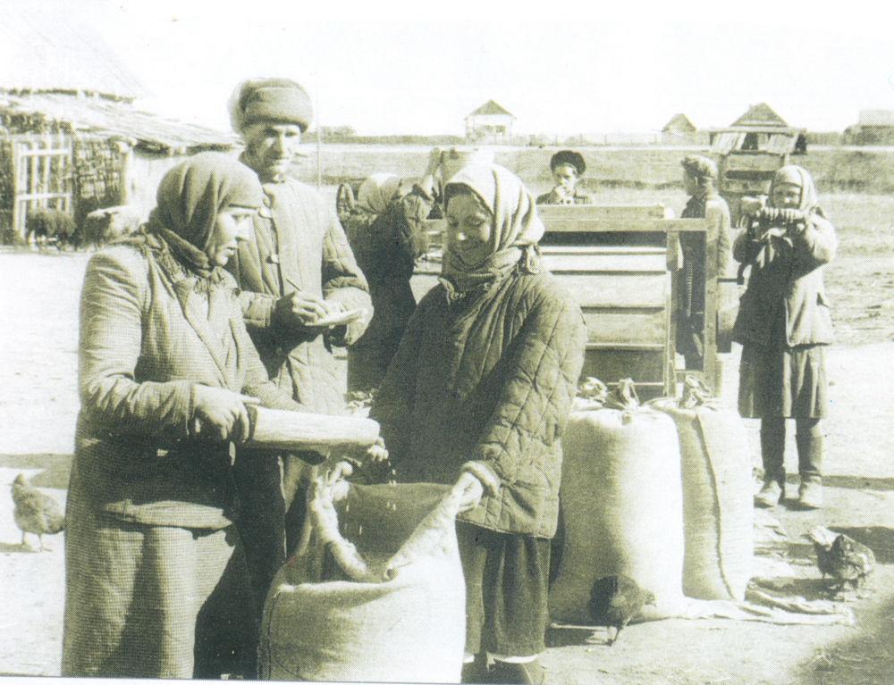 Колхозно-совхозная правда - 1951 год. Подготовка семян в колхозе имени Хрущева