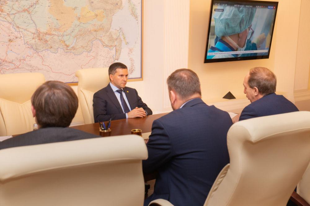 Министр природных ресурсов и экологии РФ провёл рабочую встречу с губернатором ЕАО